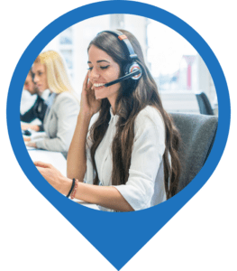 woman marketing professional on the phone